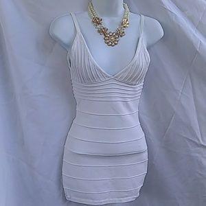 Wow couture All white mini dress